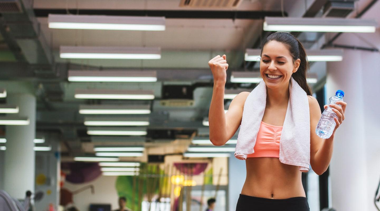 Frau Trainingsangebot Abnehmen Handtuch Fitnessstudio Ladys 1st Frauenfitness Potsdam